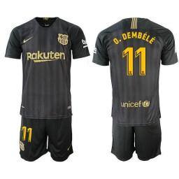 2018/19 Barcelona #11 O. DEMBELE Black Training Jersey