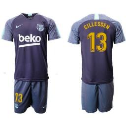 2018/19 Barcelona #13 CILLESSEN Dark Blue Training Soccer Jersey