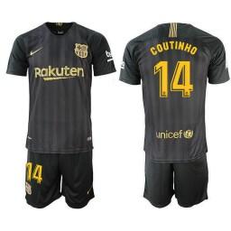 2018/19 Barcelona #14 COUTINHO Black Training Jersey