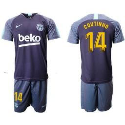 2018/19 Barcelona #14 COUTINHO Dark Blue Training Soccer Jersey