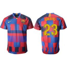 2018/19 Barcelona #23 UMTITI 20th Anniversary Stadium Soccer Jersey