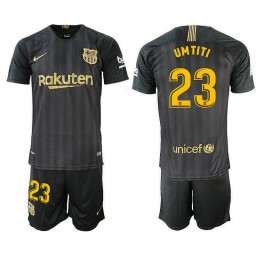 2018/19 Barcelona #23 UMTITI Black Training Jersey