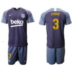 2018/19 Barcelona #3 PIQUE Dark Blue Training Soccer Jersey