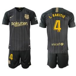 2018/19 Barcelona #4 I. RAKITIC Black Training Jersey