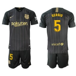 2018/19 Barcelona #5 SERGIO Black Training Jersey