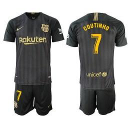 2018/19 Barcelona #7 COUTINHO Black Training Jersey