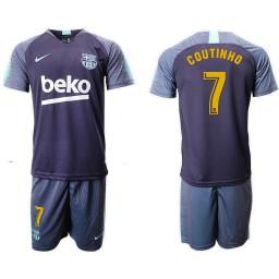 2018/19 Barcelona #7 COUTINHO Dark Blue Training Soccer Jersey