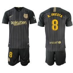 2018/19 Barcelona #8 A. INIESTA Black Training Jersey