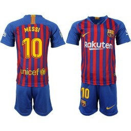 YOUTH Barcelona 2018-19 Home #10 Lionel Messi Jersey