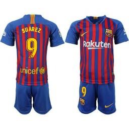 YOUTH Barcelona 2018-19 Home #9 Luis Suarez Jersey