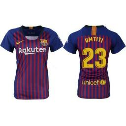 WOMEN Barcelona 2018-19 Home #23 Samuel Umtiti Jersey