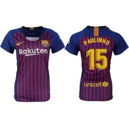WOMEN Barcelona 2018-19 Home #15 Paulinho Jersey