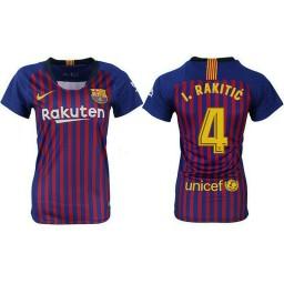 WOMEN Barcelona 2018-19 Home #4 Ivan Rakitic Jersey