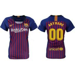 WOMEN Barcelona 2018-19 Home Custom Jersey