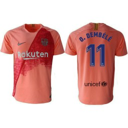 Barcelona 2018-19 Third #11 Ousmane Dembele Pink Jersey