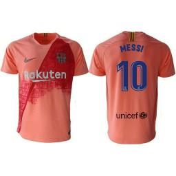 Barcelona 2018-19 Third #10 Lionel Messi Pink Jersey