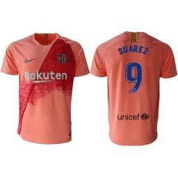 Barcelona 2018-19 Third #9 Luis Suarez Pink Jersey
