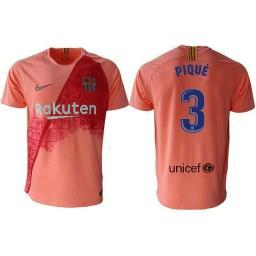 Barcelona 2018-19 Third #3 Gerard Pique Pink Jersey
