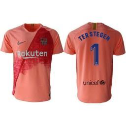 Barcelona 2018-19 Third #1 Marc-andre Ter Stegen Pink Jersey