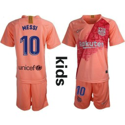 YOUTH Barcelona 2018-19 Third #10 Lionel Messi Pink Jersey