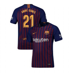 Barcelona Authentic 2018-19 Home #21 Andre Gomes Blue Jersey
