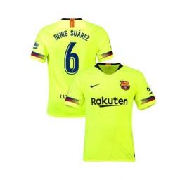 Barcelona Authentic 2018-19 Away #6 Denis Suarez Yellow Jersey