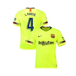 Barcelona Authentic 2018-19 Away #4 Ivan Rakitic Yellow Jersey