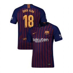 Barcelona Authentic 2018-19 Home #18 Jordi Alba Blue Jersey