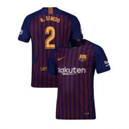Barcelona Authentic 2018-19 Home #2 Nelson Semedo Blue Jersey