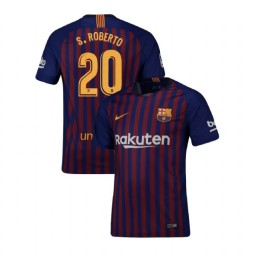 Barcelona Authentic 2018-19 Home #20 Sergi Roberto Blue Jersey