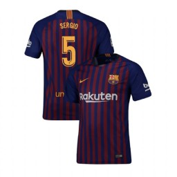 Barcelona Authentic 2018-19 Home #5 Sergio Busquets Blue Jersey