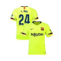 Barcelona Authentic 2018-19 Away #24 Yerry Mina Yellow Jersey