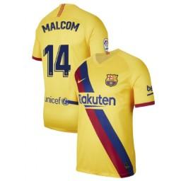 2019/20 Barcelona Authentic Stadium #14 Malcom Yellow Away Jersey