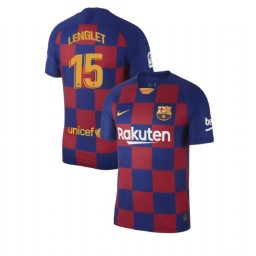 2019/20 Barcelona Authentic #15 Clement Lenglet Blue Red Home Jersey