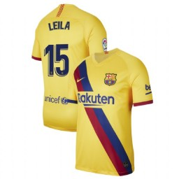 2019/20 Barcelona Authentic Stadium #15 Leila Ouahabi Yellow Away Jersey