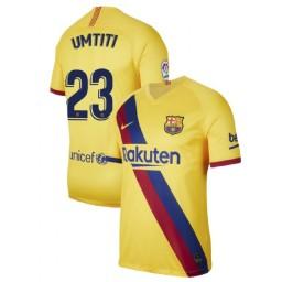 2019/20 Barcelona Authentic Stadium #23 Samuel Umtiti Yellow Away Jersey