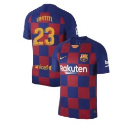 2019/20 Barcelona Authentic #23 Samuel Umtiti Blue Red Home Jersey