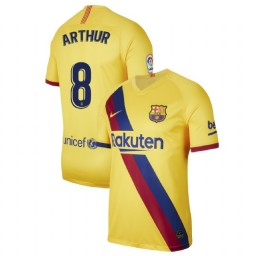 2019/20 Barcelona Authentic Stadium #8 Arthur Yellow Away Jersey