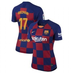 WOMEN 2019/20 Barcelona Authentic Home #17 Antoine Griezmann Blue Red Jersey