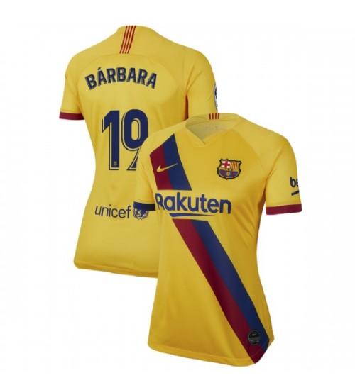 WOMEN 2019/20 Barcelona Authentic Away Stadium #19 Barbara Latorre Yellow Jersey