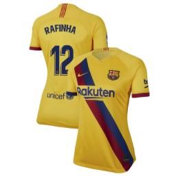 WOMEN 2019/20 Barcelona Authentic Away Stadium #12 Rafinha Yellow Jersey