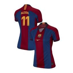 WOMEN Alexia Putellas Barcelona Authentic El Clasico Blue Red Retro Jersey