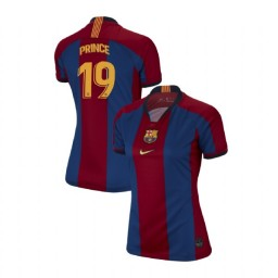 WOMEN Kevin-Prince Boateng Barcelona Authentic El Clasico Blue Red Retro Jersey