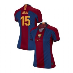 WOMEN Leila Ouahabi Barcelona Authentic El Clasico Blue Red Retro Jersey