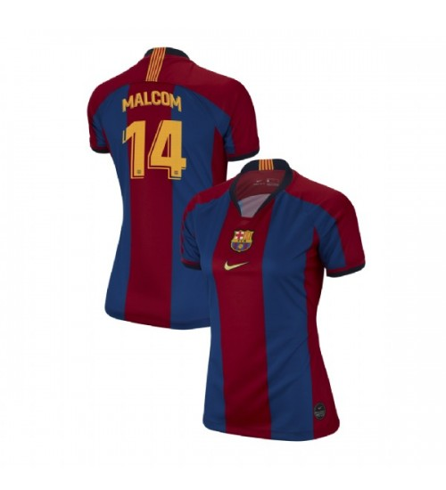 WOMEN Malcom Barcelona Replica El Clasico Blue Red Retro Jersey