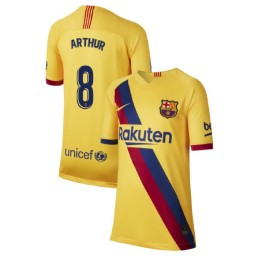 YOUTH 2019/20 Barcelona Authentic Away Stadium #8 Arthur Yellow Jersey