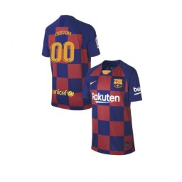 YOUTH 2019/20 Barcelona Authentic Home #00 Custom Blue Red Jersey
