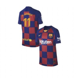 YOUTH 2019/20 Barcelona Replica Home #11 Ousmane Dembele Blue Red Jersey