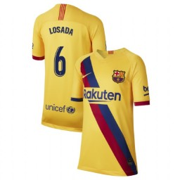YOUTH 2019/20 Barcelona Authentic Away Stadium #6 Victoria Losada Yellow Jersey