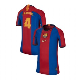 YOUTH Ivan Rakitic Barcelona Replica El Clasico Blue Red Retro Jersey